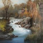 Late October Rapids, VT. Artist: Tom Nicholas, N.A., A.W.S.
