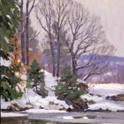 River Bank in Winter TM Nicholas